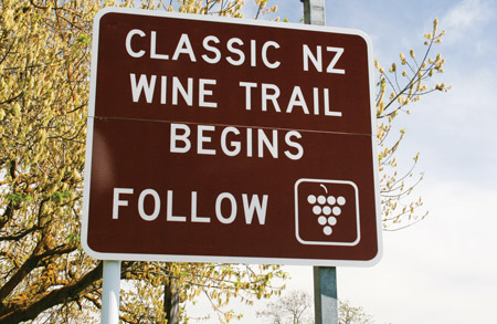 The Classic New Zealand Wine Trail - just follow the signs