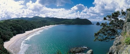 Picture of New Chum's Beach, named one of the World's finest beaches. Image courtesy Tourism Coromandel