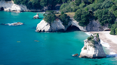 Coromandel Cathedral Cove Coastline Copyright Tourism Coromandel