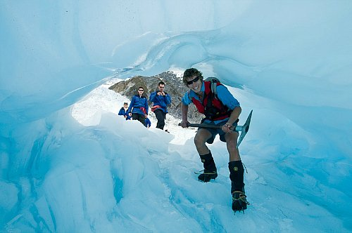 Ice cave on Franz Josef - pic courtesy westcoast.co.nz