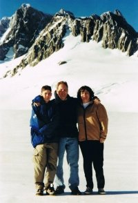 Here we are at the top of Franz Josef - picture taken on an earlier trip