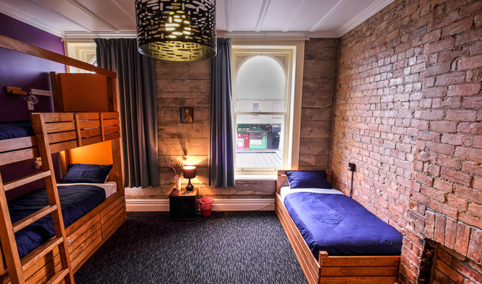 One of the classy dorm rooms at Haka Lodge Auckland