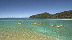 kayaks in the Abel Tasman National Park