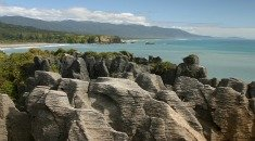 Visit Punakaiki and the famous Pancake Rocks and blowhole