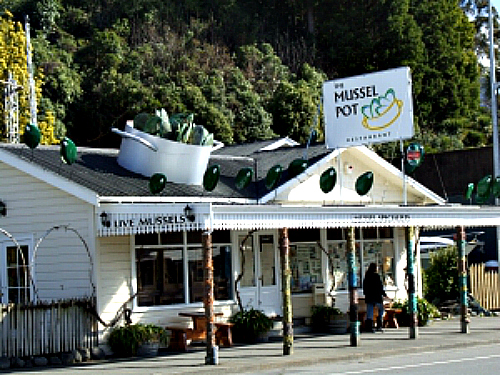 The quirky Mussel Pot at Havelock