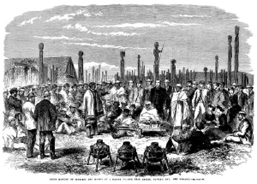 Hawkes Bay 1863 Meeting of Settlers and Maoris at Hawkes Bay