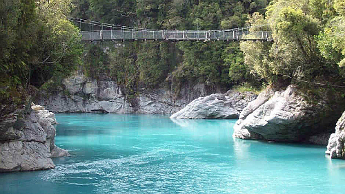 You have to see it. Hokitika Gorge. Pic courtesy the pulse te auaha