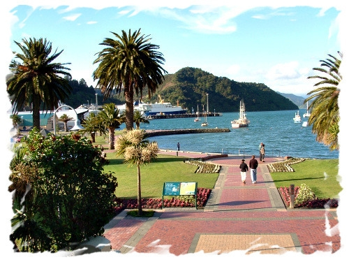 Picton in the Marlborough Sounds at the top of the South Island