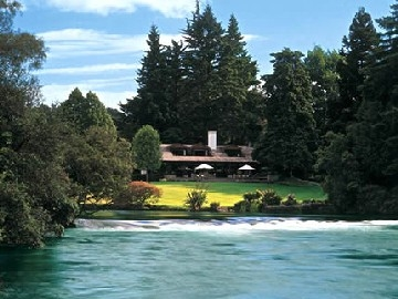 The iconic Huka Lodge
