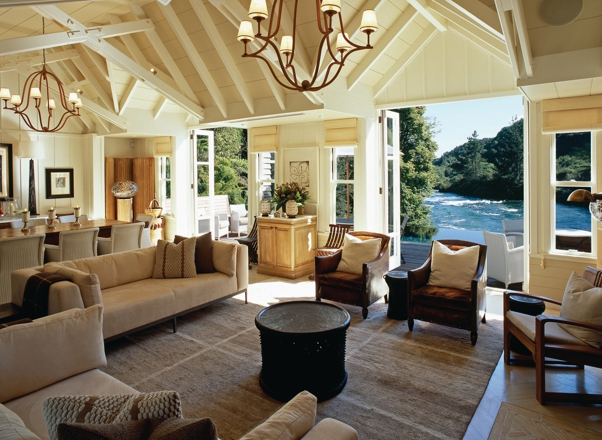 The stunning Owner's Cottage at Huka Lodge - image courtesy Huka Retreats