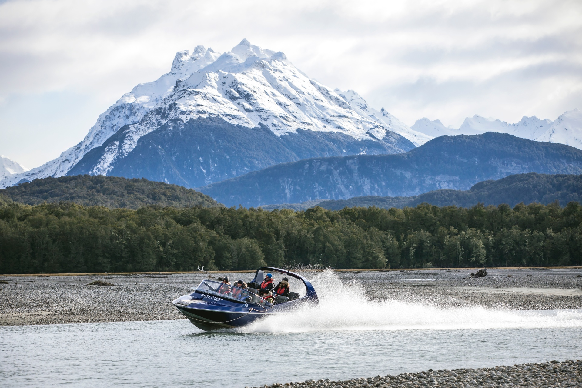 Jetboating at Glenorchy near Queenstown. Pic courtesy Miles Holden and TNZ