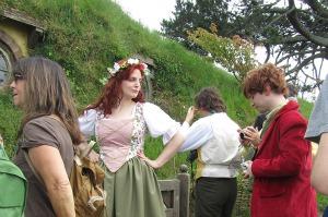Hobbiton set outside Bags End