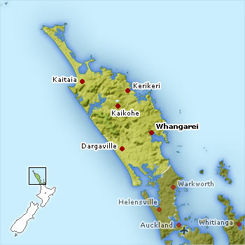 Map of Northland