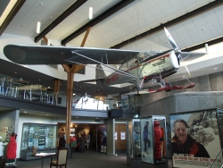A plane on display at the Sir Edmund Hilary Centre