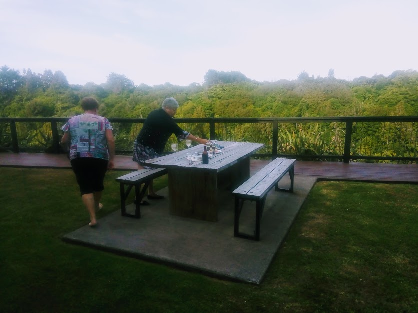 Outdoor dining at One Burgess Hill New Plymouth