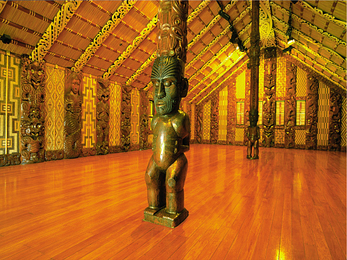 Inside the Waitangi Meeting House - pic courtesy Destination Northland