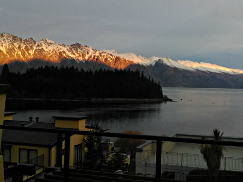 The view from an apartment at Pepper's Beacon Queenstown