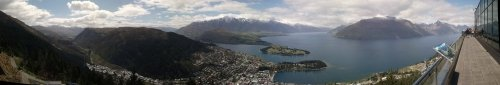 Queenstown panorama from the Skyline Gondola viewing deck