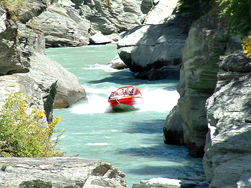 The famous Shotover Jet near Queenstown