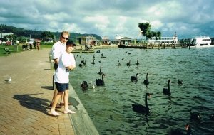 Tim and I lakefront at Rotorua way back in 1999