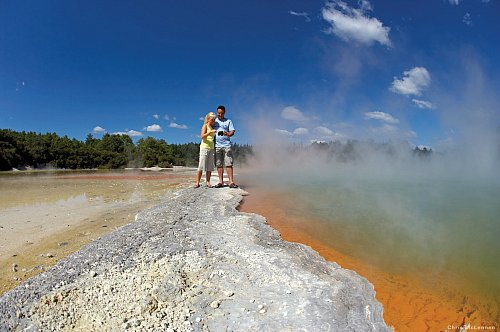 Rotorua's steaming Champagne Pools - pic courtesy Chris McLennan