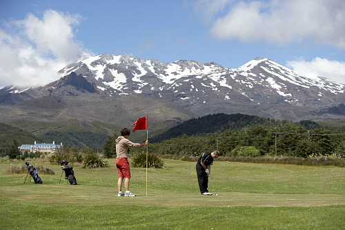 New Zealand's highest golf course at Whakapapa Village - pic courtesy www.visitruapehu.com