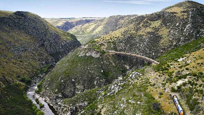 The Taieri Gorge Railway near Dunedin