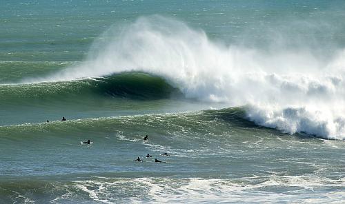 Surf's up near New Plymouth - pic courtesy Rob Tucker