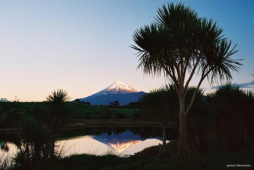 The Whanganui River and Mt Taranaki - pic courtesy James Heremaia