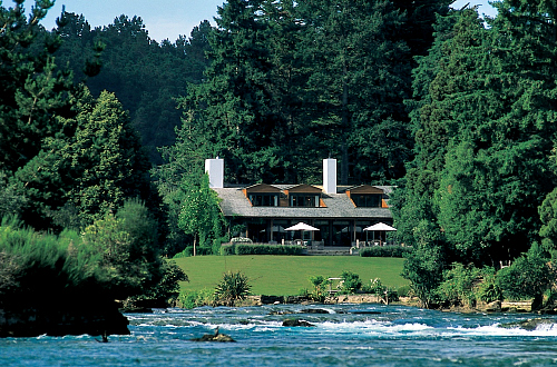The iconic Huka Lodge at Taupo - image courtesy Huka Lodge