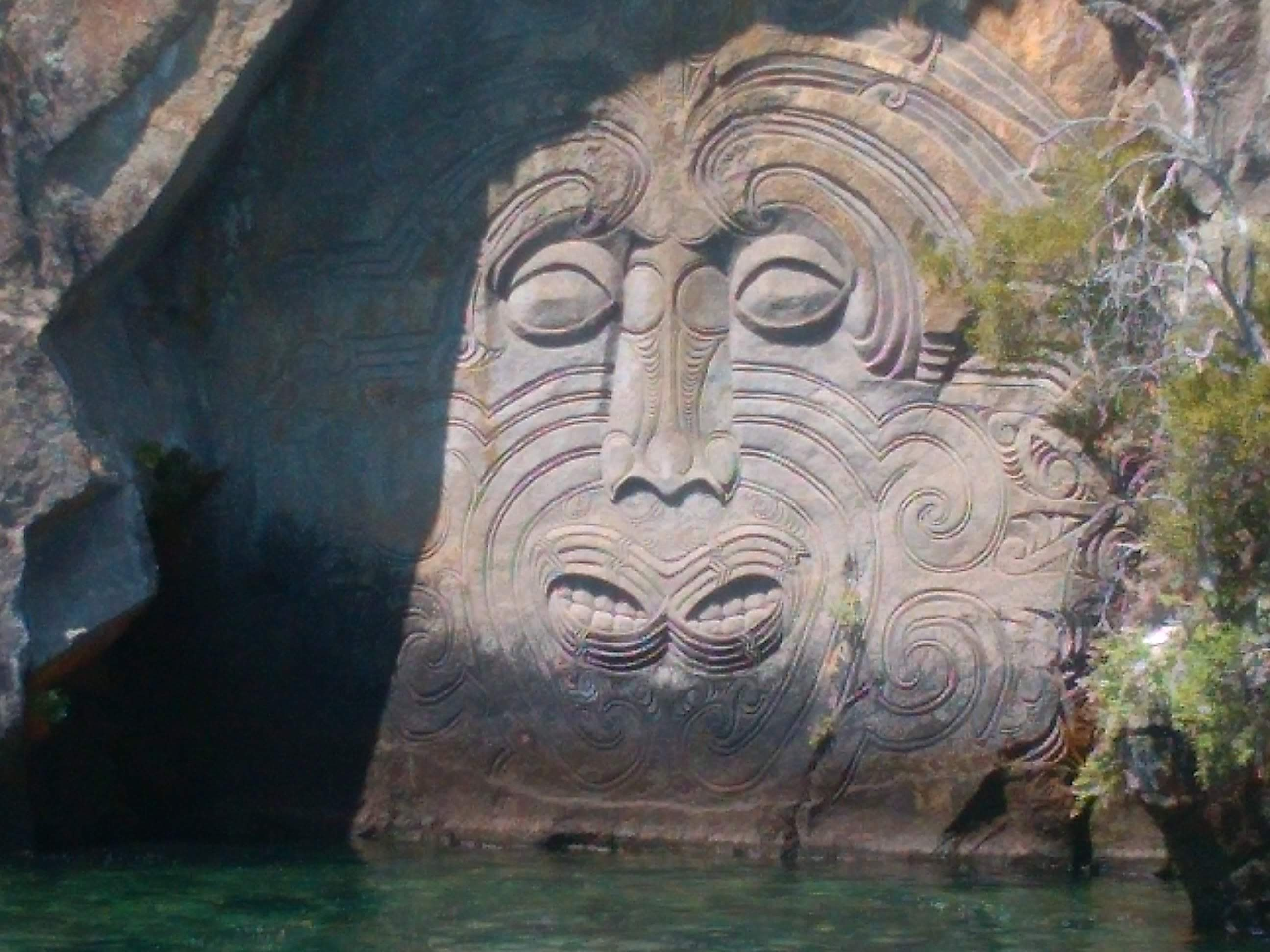 Maori Rock Carvings Lake Taupo
