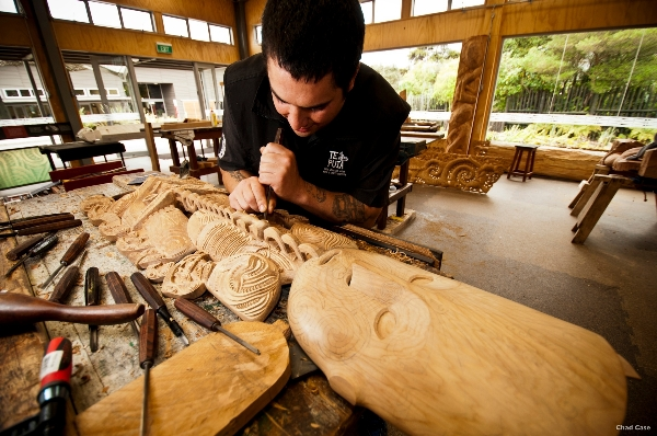 Te Puia at Rotorua is home to the National Carving School - picture courtesy Eric Lindber