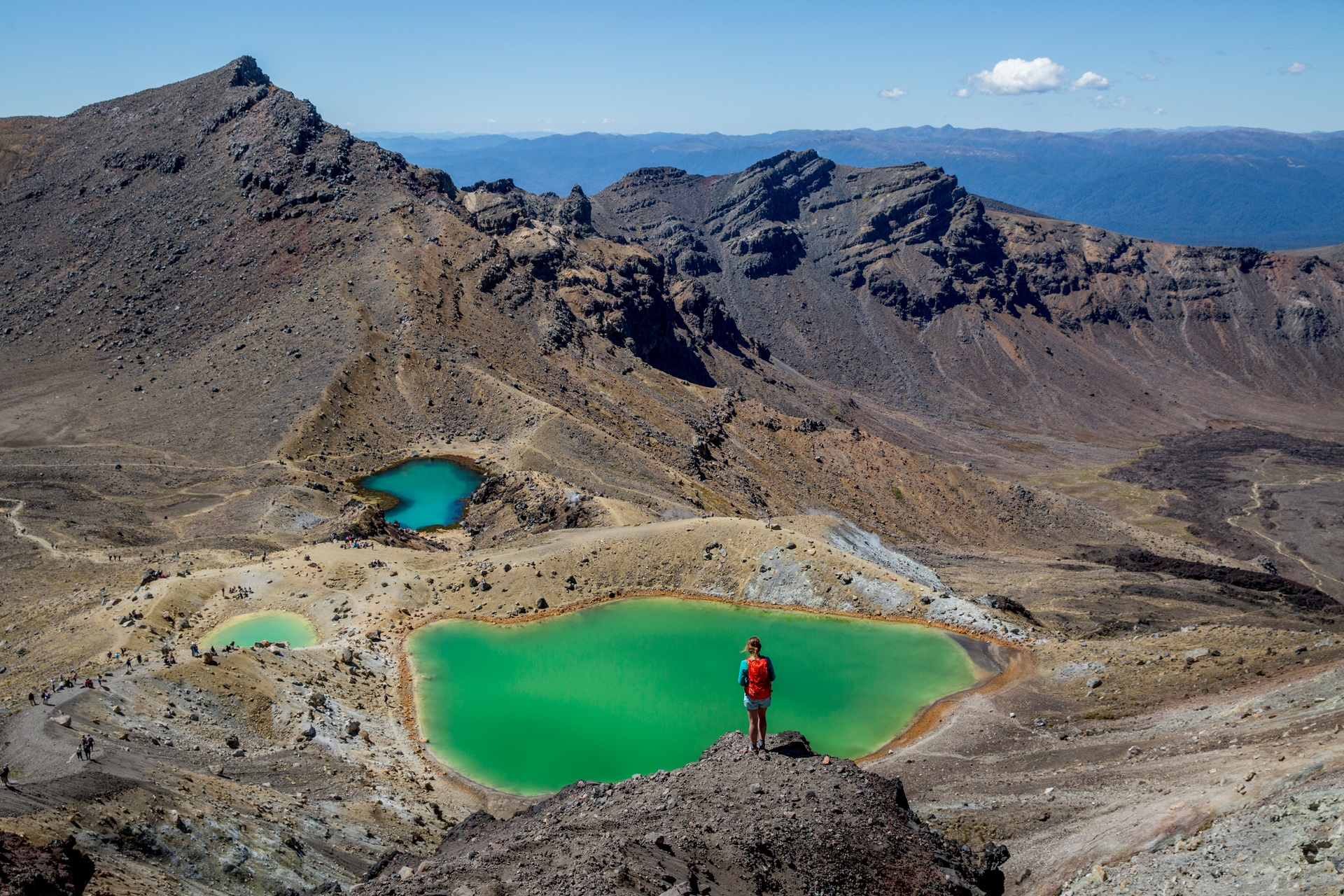 The iconic Tongariro Alpine Crossing. Pic courtesy TNZ and Camilla Rutherford