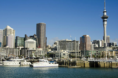 The beautiful Auckland waterfront