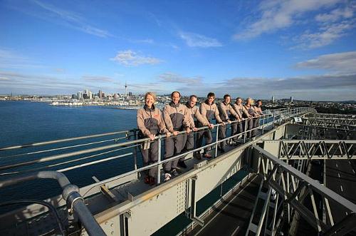 Great views on the Auckland Harbor Bridge Climb