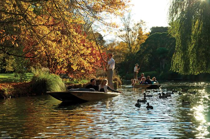 Punting on the Avon River Christchurch - click for more information