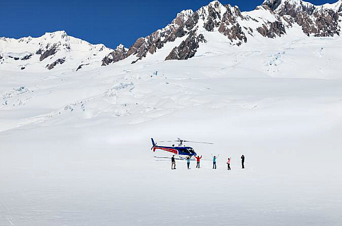 We can highly recommend a snow landing on top of the glacier. The air is so clear! Click for more details.
