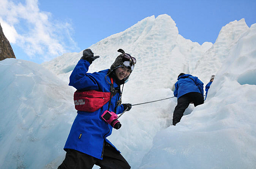The small group Franz Josef ice walk is an awesome way to see the glacier up close - click to learn more.