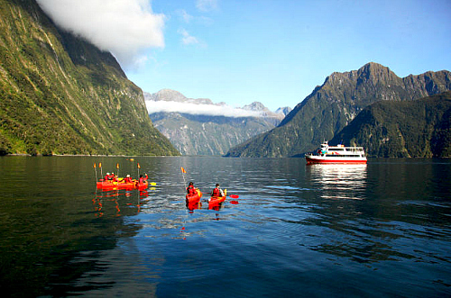 Kayaking on Milford Sound - click to learn more