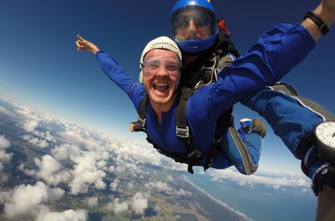 No better view! Skydive over Auckland