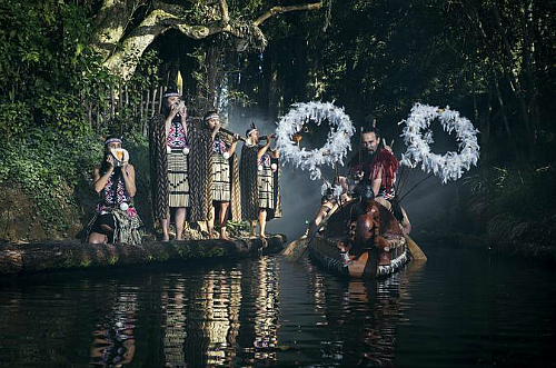 Experience Maori culture at Tamaki Maori Village near Rotorua on the North Island