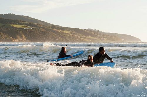 Surf's up at Raglan beach - pic courtesy Paul Abbitt