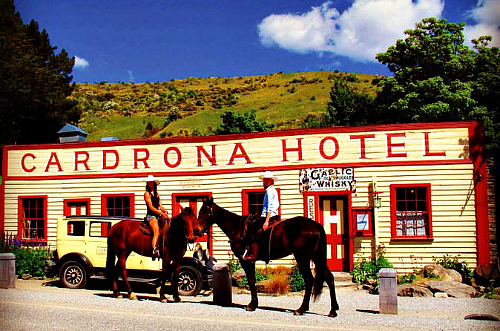 The historic Cardrona pub - why not check out the high country horse ride. Click for more information