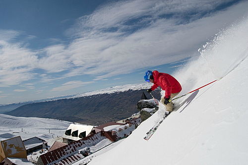 Hitting the slopes at Cardrona - pic courtesy WanakaNZ